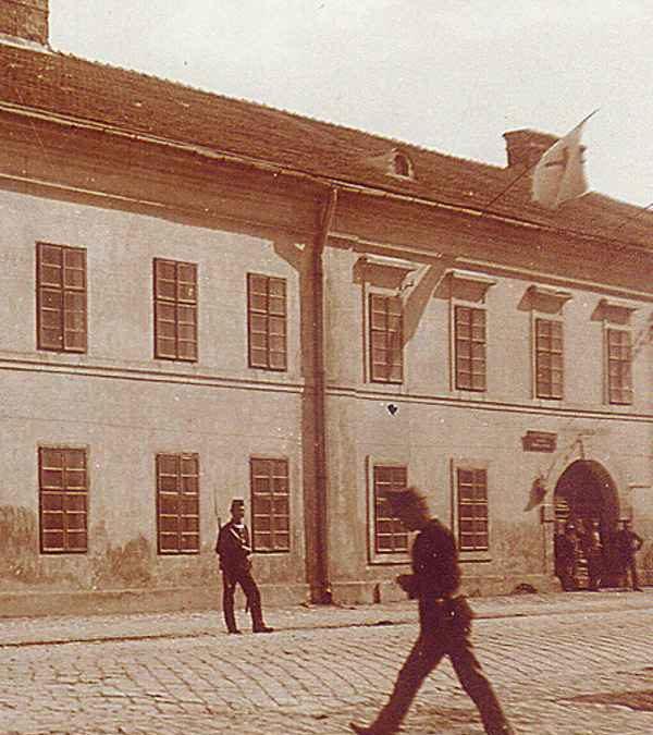 Dawne koszary, obecny Plac Niepodległości