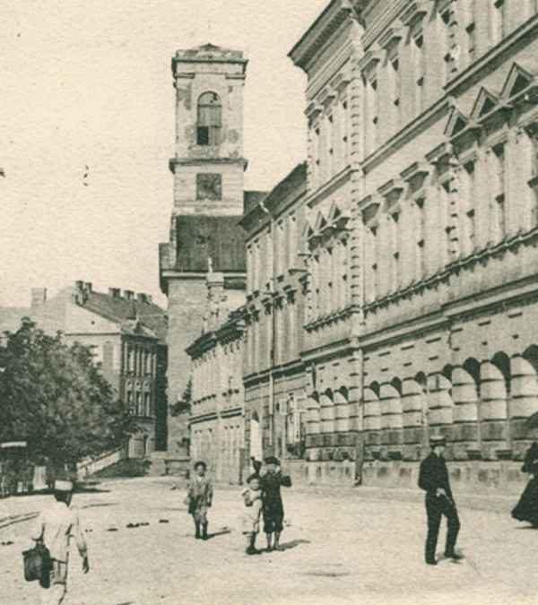 Ulica Zamoyskiego, widok w stronę Rynku Podgórskiego